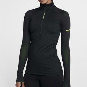 Nike pro Hyperwarm black/ neon green jacket